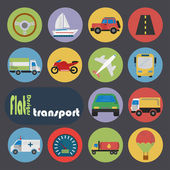 Icon set for Transport — 图库矢量图片