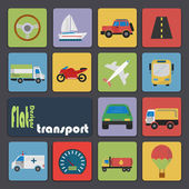 Icon set for Transport — Stock Vector