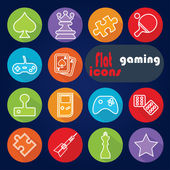 Icons for Gaming — Stock Vector