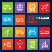 Icon set for Transport — Vector de stock