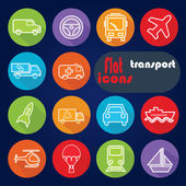 Icon set for Transport — Cтоковый вектор