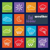 Icon set for Weather — Stok Vektör