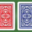 Playing Card Back Designs. — Vector de stock