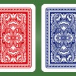 Playing Card Back Designs. — Vettoriale Stock