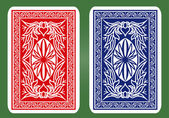 Playing Card Back Designs. — Stock Vector