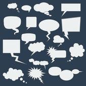 Speech Bubbles. — Stock Vector