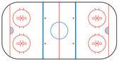 Ice Hockey Rink — Stock Vector