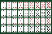 Poker set — Stock Vector