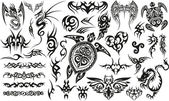Tribal Tattoo Set. — Stock Vector