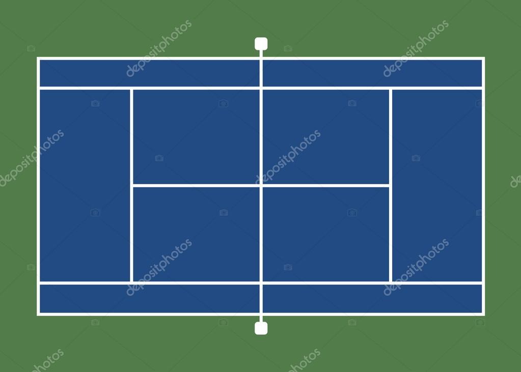 Tennis Court Stock Vector Delpieroo 51128121
