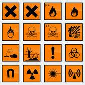 Hazard signs — Stock Vector