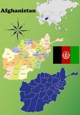 Afghanistan  Maps — Stock Vector