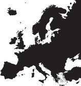 Europe Map Silhouette. — Stock Vector