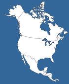North America Silhouette — Stock Vector