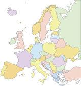 Europe Political Map. — Stock Vector