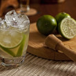 Stock Photo: Brazilian Lime Caipirinha