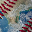 Earth as a baseball Ball — Stock Photo