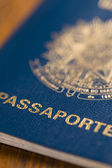 Macro Brazilian Passport — Stock Photo