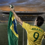 Brazilian soccer player — Stock Photo #26443417
