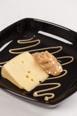 Dulce de leche with cheese — Stock Photo