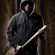 Thief on a dark alley — Stock Photo