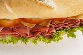 Mortadela sandwich — Stock Photo