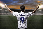American soccer player — Stock Photo