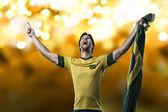 Joueur de football brésilien — Photo