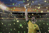 Brasilianischer fußballspieler — Stockfoto