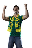 Brazilian Fan Celebrating — Stock Photo