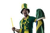 Brazilian Fan Celebrating — Stock Photo