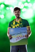 Brazilian Fan — Stock Photo