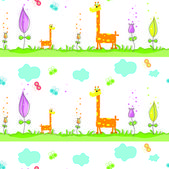 Seamless pattern with giraffes — Stock Vector
