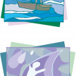 Stock Vector: Water caricature
