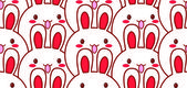 Seamless pattern with hares and rabbits — Cтоковый вектор