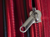 Close up of Suitcase Zip — Stock Photo