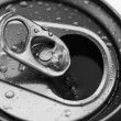 Stock Photo: Open cold aluminium beverage can
