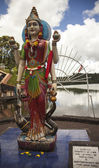 Hindu Goddess Gayathri at Grand Bassin in Mauritius — Stock Photo