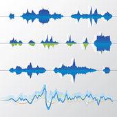 Ondas sonoras — Vetorial Stock