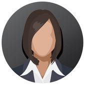 Businesswoman icon — Stock Vector