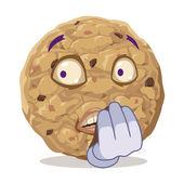 Concerned cookie — Stok Vektör