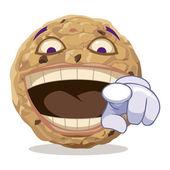 Cookie mocking — Stock Vector