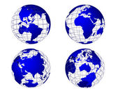 The Earth from 4 Views — Stock Vector