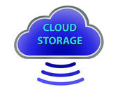 Cloud Storage — Stock Vector
