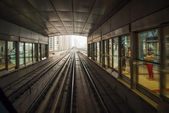 Metro Station in Dubai, UAE. — Stock Photo
