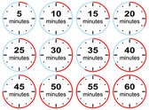 Presets time limits with step five minutes — Vector de stock