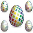 Easter rainbow 3D decorative texture eggs — Stok Vektör #25634607