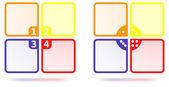 Iş renkli dört seçenek şablonu. iki dizi — Stok Vektör