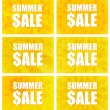 Stock Vector: Summer Sale - Set Of Six Variants