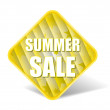 Summer Sale Label With Nice Square Background — Stock Vector